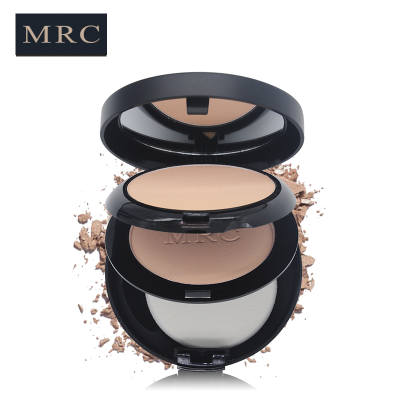 MRC 6 Colors Face Powder 2 Layers Highlighter Contour Makeup Pressed Powder Palette with Puff Cosmetics for All Gender