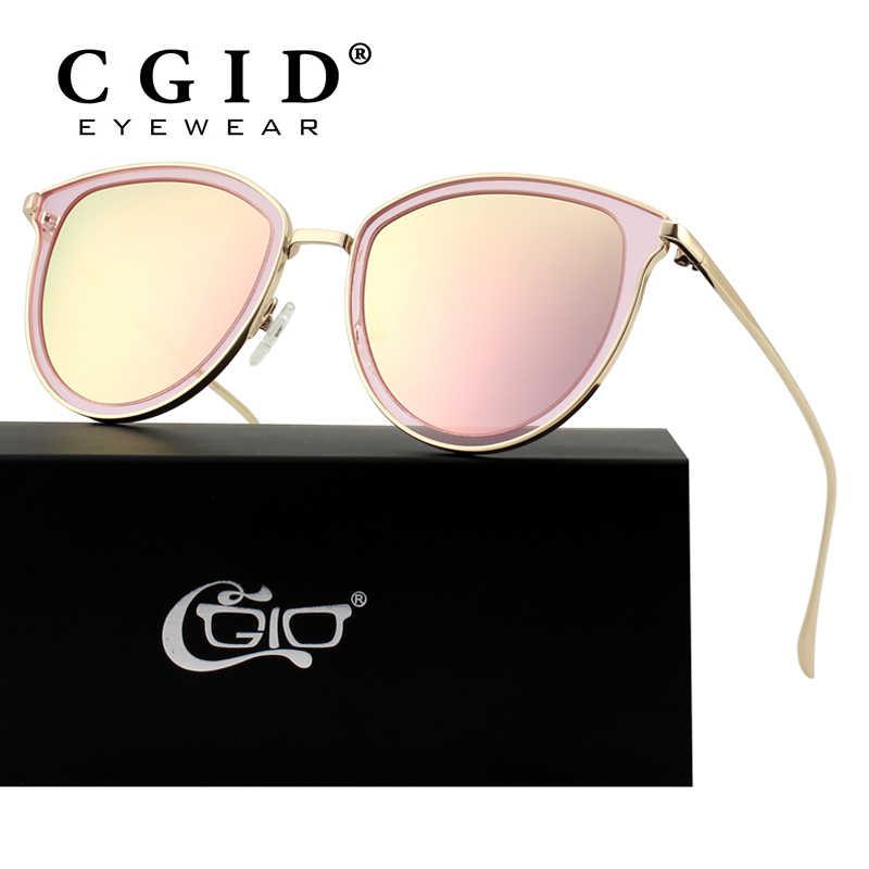 27a2f6919 CGID Retro Polarized Sunglasses Double Circle Mirror UV400 Lens Metal Frame Cat  Eye Sun Glasses MJ85