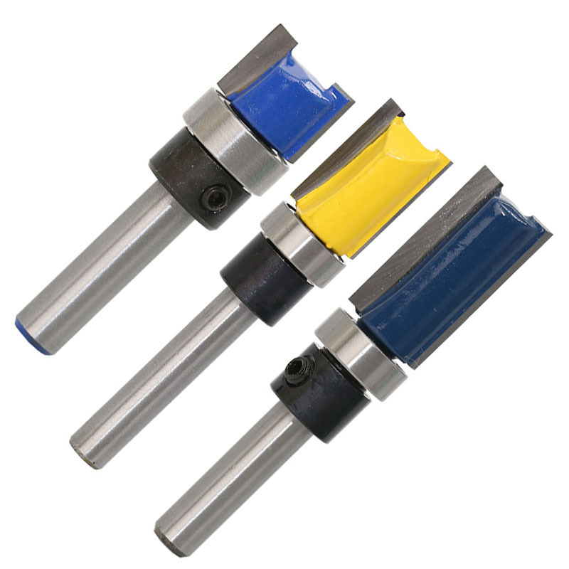 3PCS 1/4 Inch Cortador de vástago Router Recorte de brocas - Máquinas herramientas y accesorios - foto 3