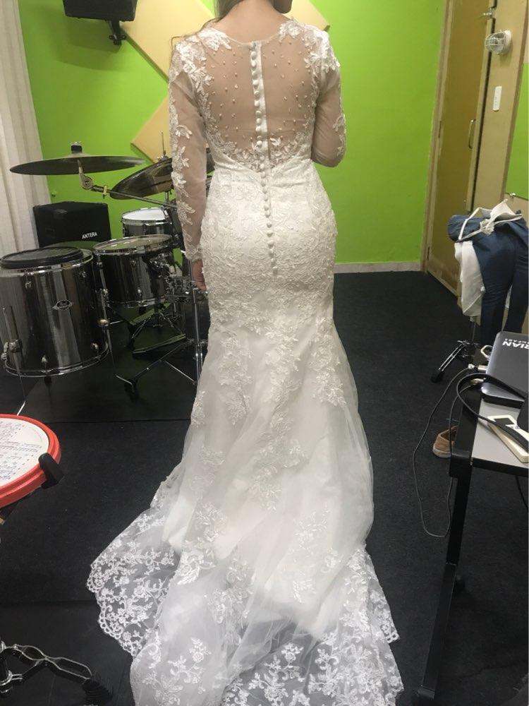 wuzhiyi mermaid wedding dress Long wedding Gown Cap Sleeve gown Sccop  vestido de noiva lace trumpet Beading dress robe de mariee bridal dress mermaid  wedding dressesvestido de noiva - AliExpress