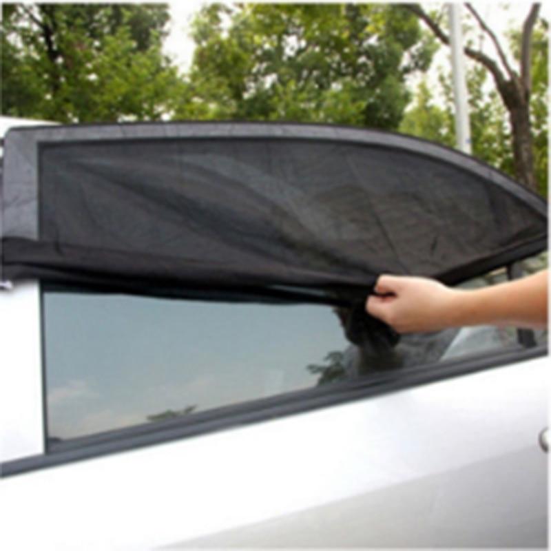 54cm X 92cm 2pcs Car Window Shades Sun Cover Rear Side Kids Baby UV Protection Block Mesh