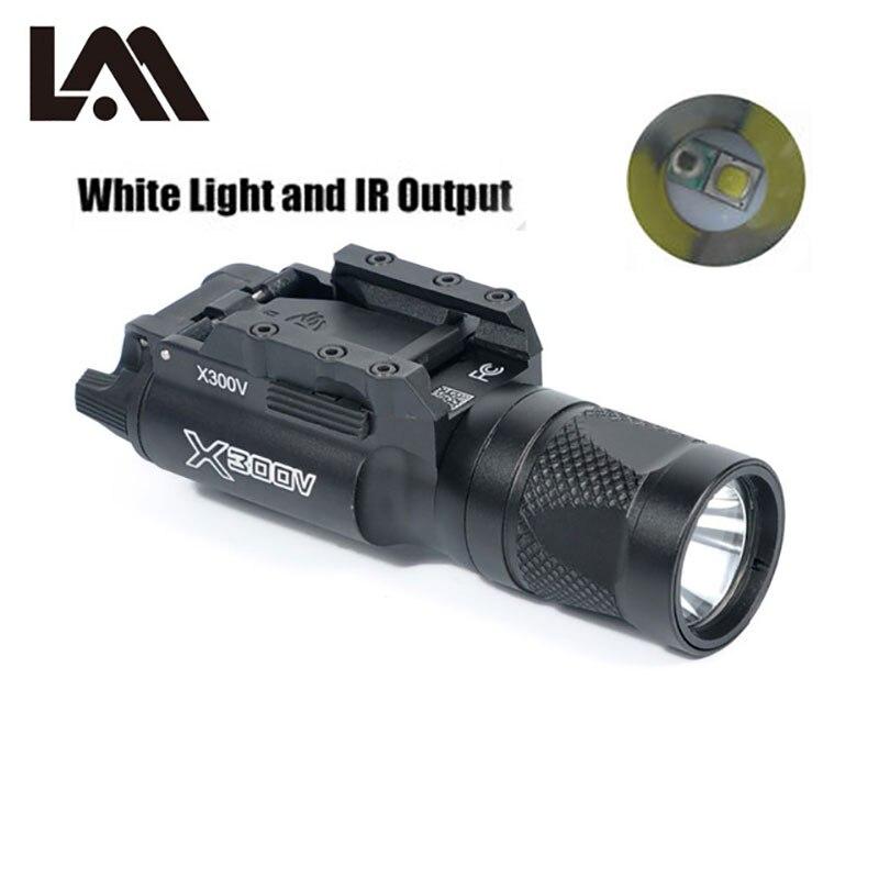 Tactical X300 Series X300V IR Weapon Light Hunting Airsoft Gun Light Infrared Night Vision glock 17 18c flashlight lanterna