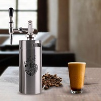 KEG STORM Nitro Cold Brew Coffee Maker Stainless Steel 3.6L/2L Mini Keg Growler Portable Beer Making Bar DIY Accessories Tool