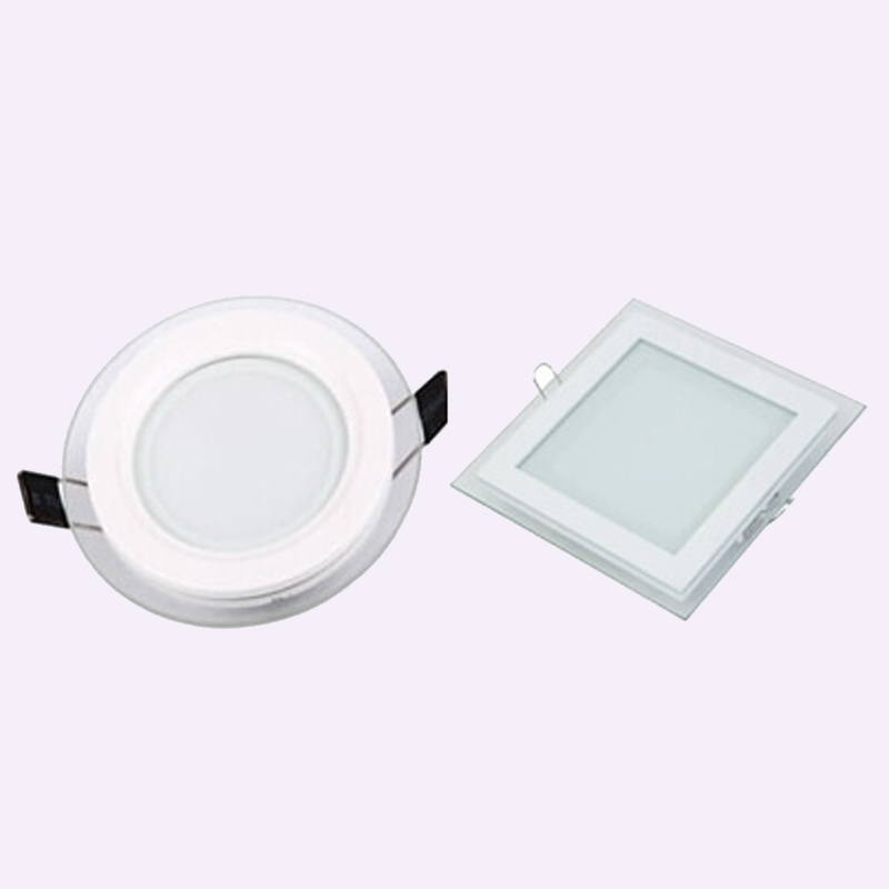 purchase cheap 84fa8 fb858 US $7.63 17% OFF|1pcs 3 color change glass led panel Downlight 6W 12W 18W  Panel Light AC85 265V Ceiling Recessed Indoor Lighting-in Downlights from  ...