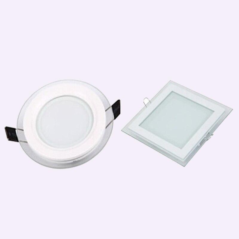 1 stks 3 kleurverandering glas led-paneel Downlight 6 W 12 W 18 W - Binnenverlichting
