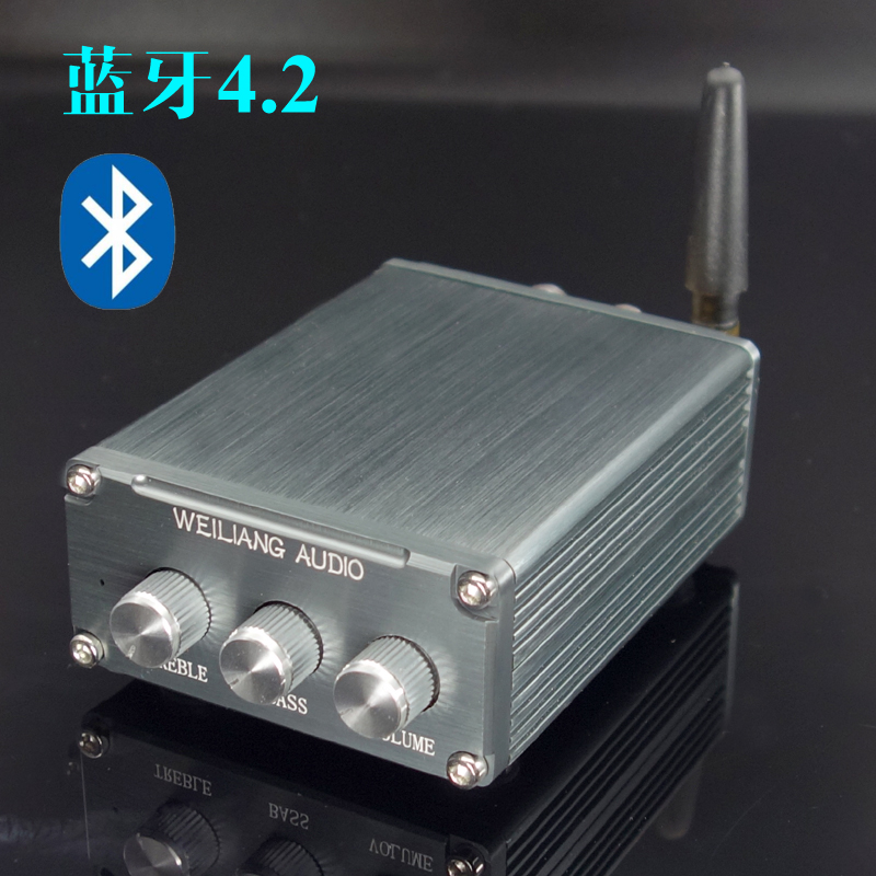 DP4 2.0 digital power amplifier Bluetooth stereo 15W+15W Mini Amplifier High-bass adjustment preamplifier jtron ta2024 dc 12v double track 15w 15w car pc hi fi mini digital amplifier board green