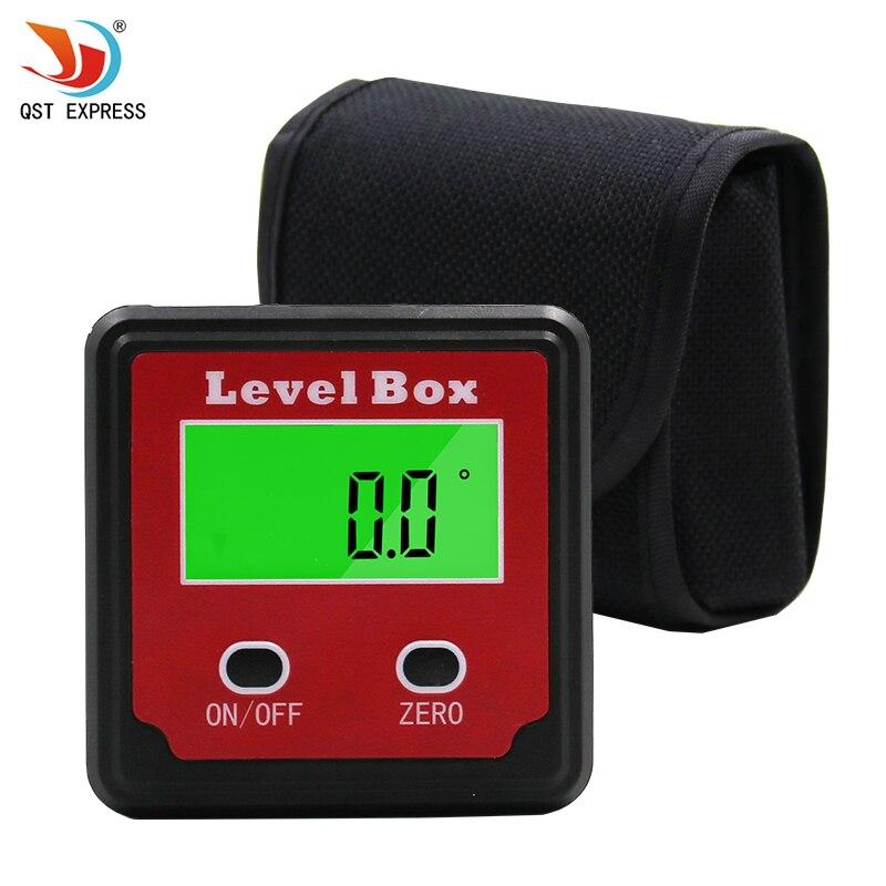 Rouge Précision numérique rapporteur inclinomètre Niveau boîte numérique angle finder Bevel Box avec embase magnétique