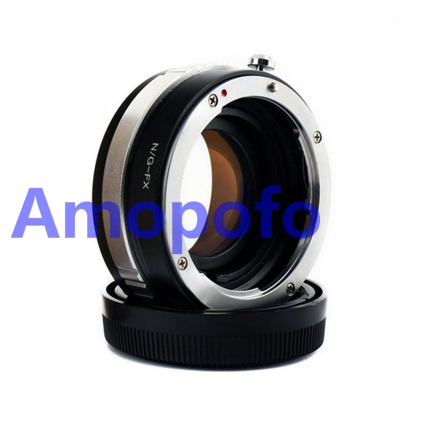 Amopofo N/G-FX Focal Reducer Speed Booster Adapter For Nikon G AI AF-S Lens to FX X-Pro1, X-E1, X-E2, X-M1, X-A, SR/X-600