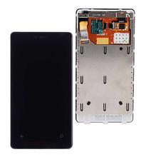 цена на STARDE Replacement LCD For Nokia Lumia 800 LCD Display Touch Screen Digitizer Sense Assembly Frame 3.7