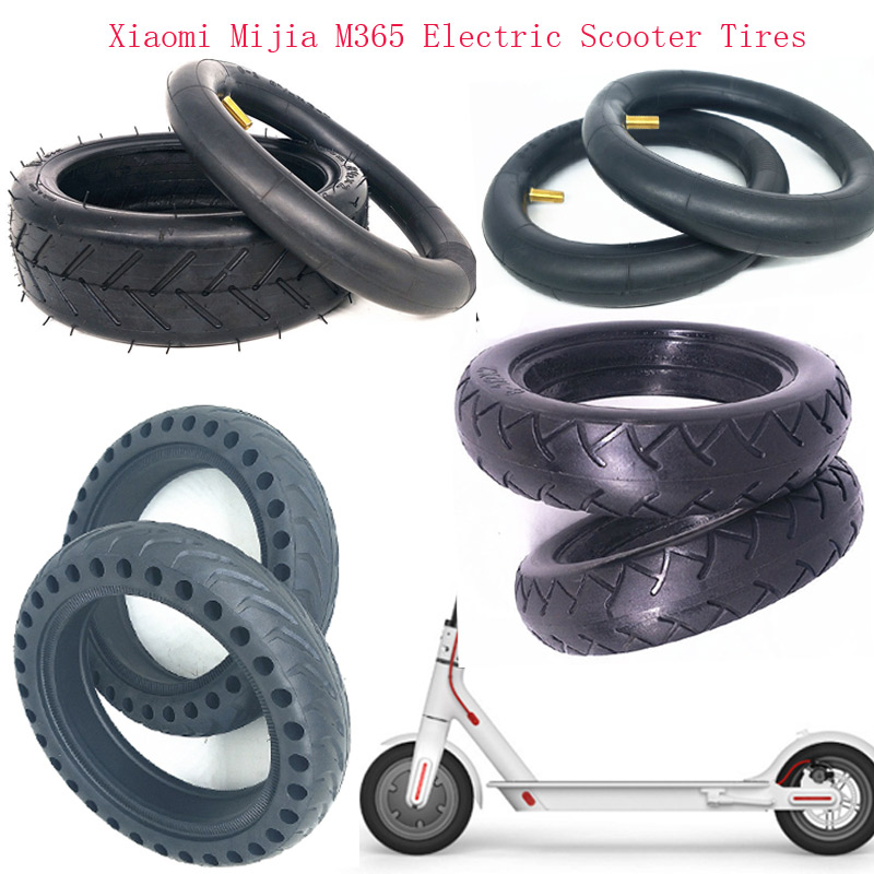 Updated Solid Tire Hollow Non-Pneumatic Tyre Wheel 8 1/2x2 for Xiaomi Mijia M365 Scooter Shock Absorber Anti-slip Tyre Tire