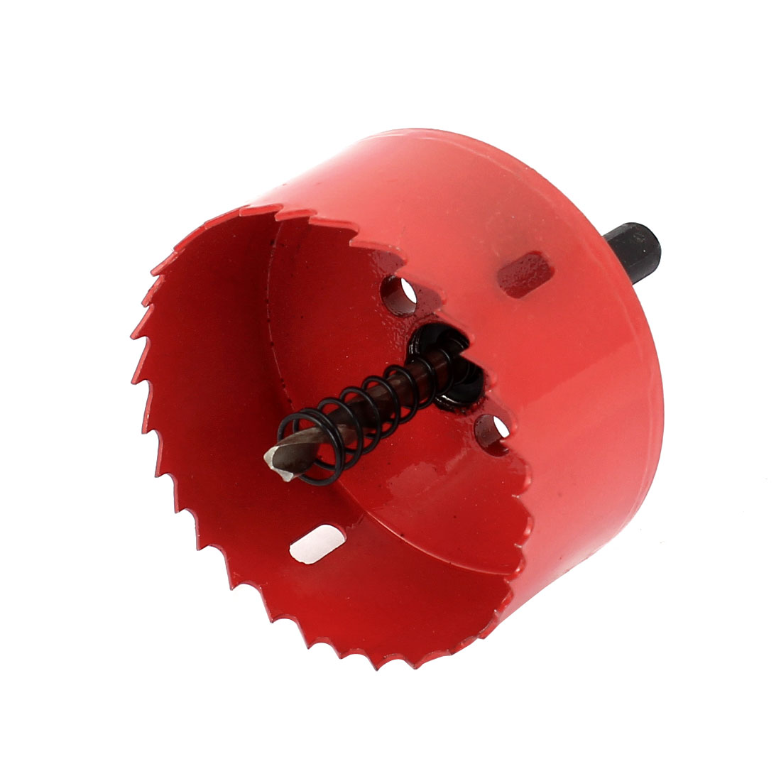 UXCELL 75Mm Cutting Dia Toothed Bi Metal Hole Saw Cutter Drill Bit Red For Wood Iron 55mm cutting dia sds plus shank concrete cement stone wall hole saw drill bit