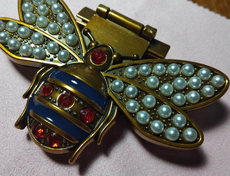 DIY Women Bee Metal Clasp Turn Twist Lock For Handbag Shoulder Bag Purse Gift Handbag Lock Bee Lock photo review