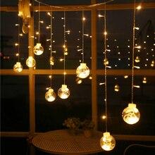 Светодиодный рождественская подвеска подвесной светильник декоративный осветительный прибор Стекло Свадебный сад вечерние для домашнего декора Водонепроницаемый искусства