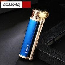 Vintage Design Retrò Uomini Lighter Gadget Sigaretta Mola Cherosene Olio Più Leggero Vecchio Benzina Classic Cigar Bar Accendini