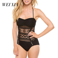 Christmas Gift WEIXIA 2017 Hot Sell Sexy Women One Piece Swimsuit Lovely Girl Super Sexy Bathing