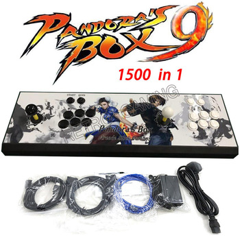 Promotion New Pandora Box 9 1500 in 1 Arcade Game Metal console 2 Players stick controller console HDMI VGA USB output PS3