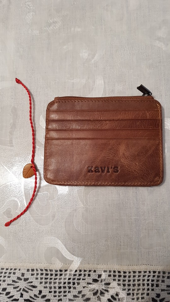 KAVIS Cow Leather Credit Card Wallet Multifunction Credit ID Cards Holder Small Wallet Men Coin Purse Slim Cards Male Mini Walet photo review
