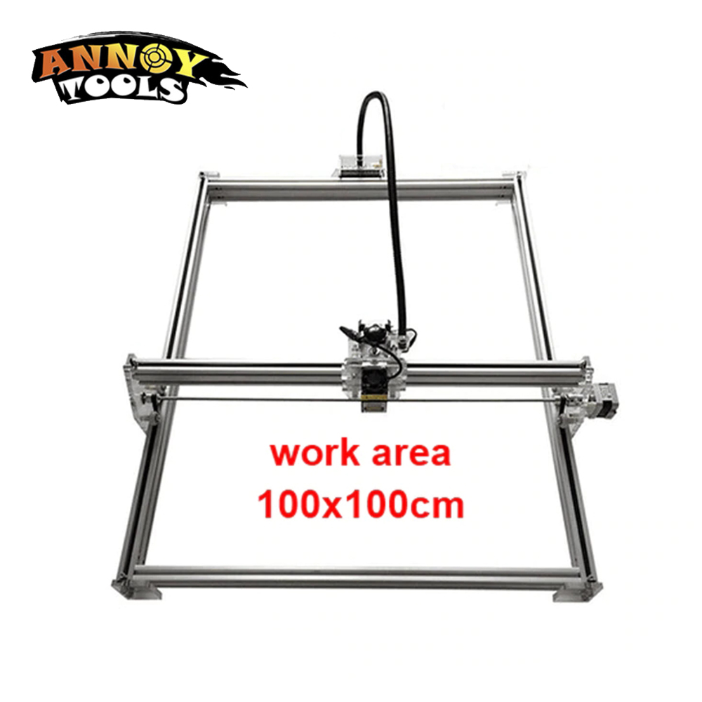 15 w laser machine de découpe TTL PMW contrôle 1*1 m grande zone 5500 mw DIY laser machine de gravure, 5.5 w laser sculpture machine cnc routeur