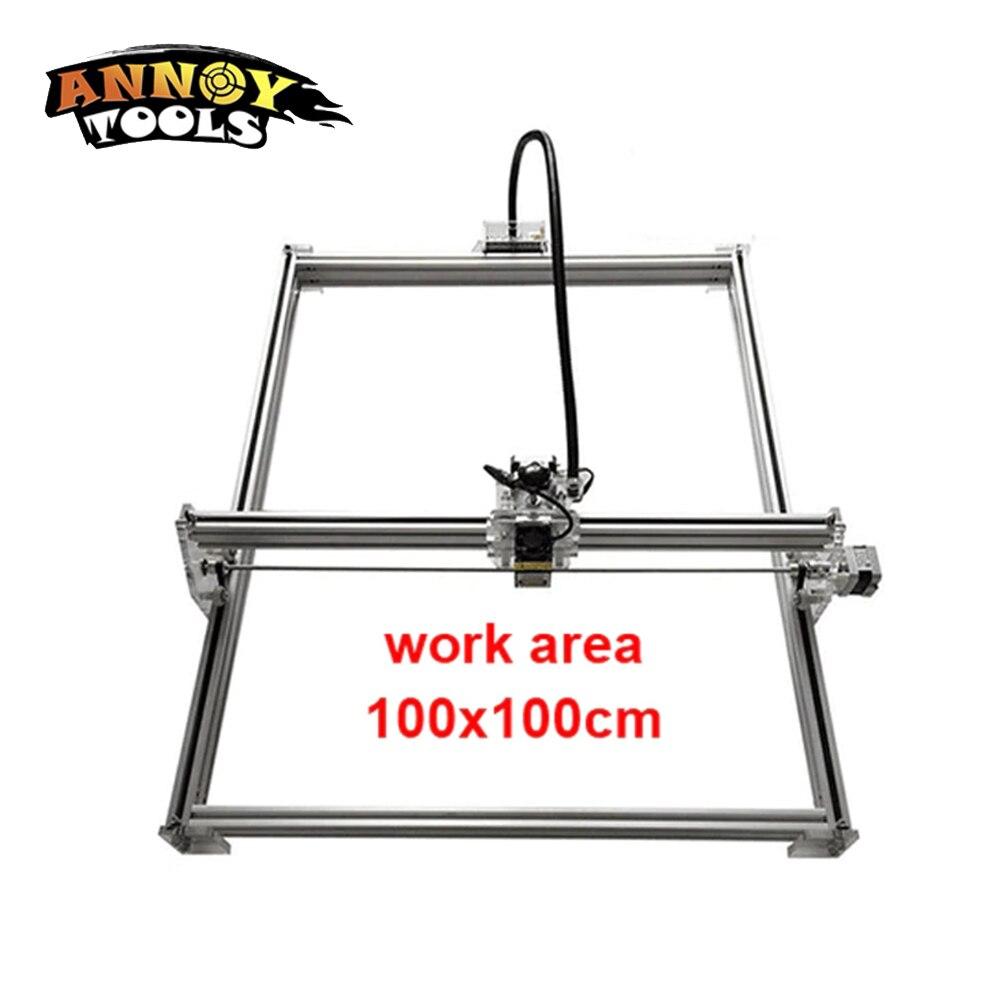 15w laser cutting machine TTL PMW control 1*1m big area 5500mw DIY laser engraving machine,5.5w laser carving machine cnc router