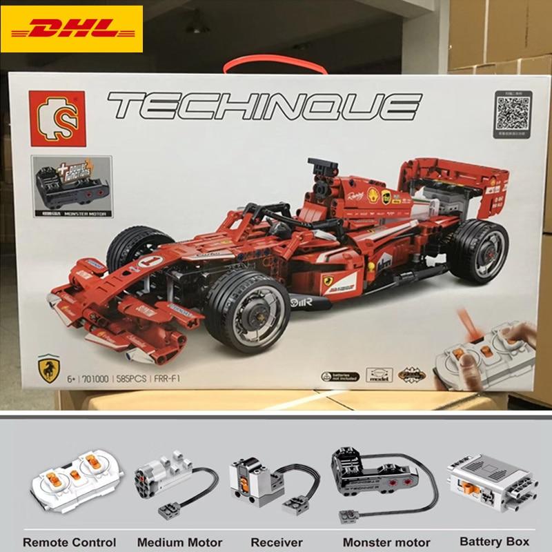 Oyuncaklar ve Hobi Ürünleri'ten Bloklar'de DHL 701000 585 Adet teknik F1 araba yarışı Uyumlu MOC legoinglys Uzaktan Kumanda RC Elektrikli hız modeli yapı taşları oyuncak'da  Grup 2