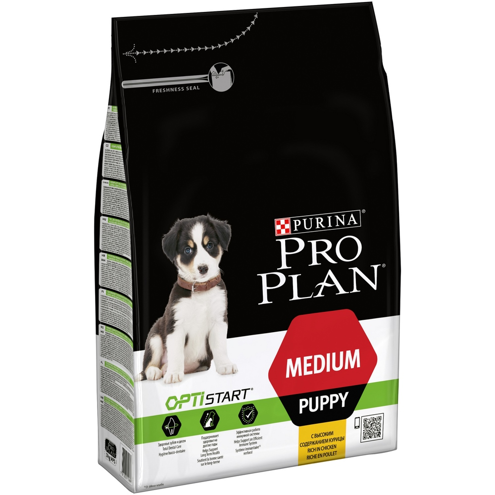 Dog Dry Food Pro Plan Medium Puppy puppy food of medium breeds, Chicken, 3 kg dog dry food pro plan medium adult for adult dogs of medium breeds chicken 1 5 kg