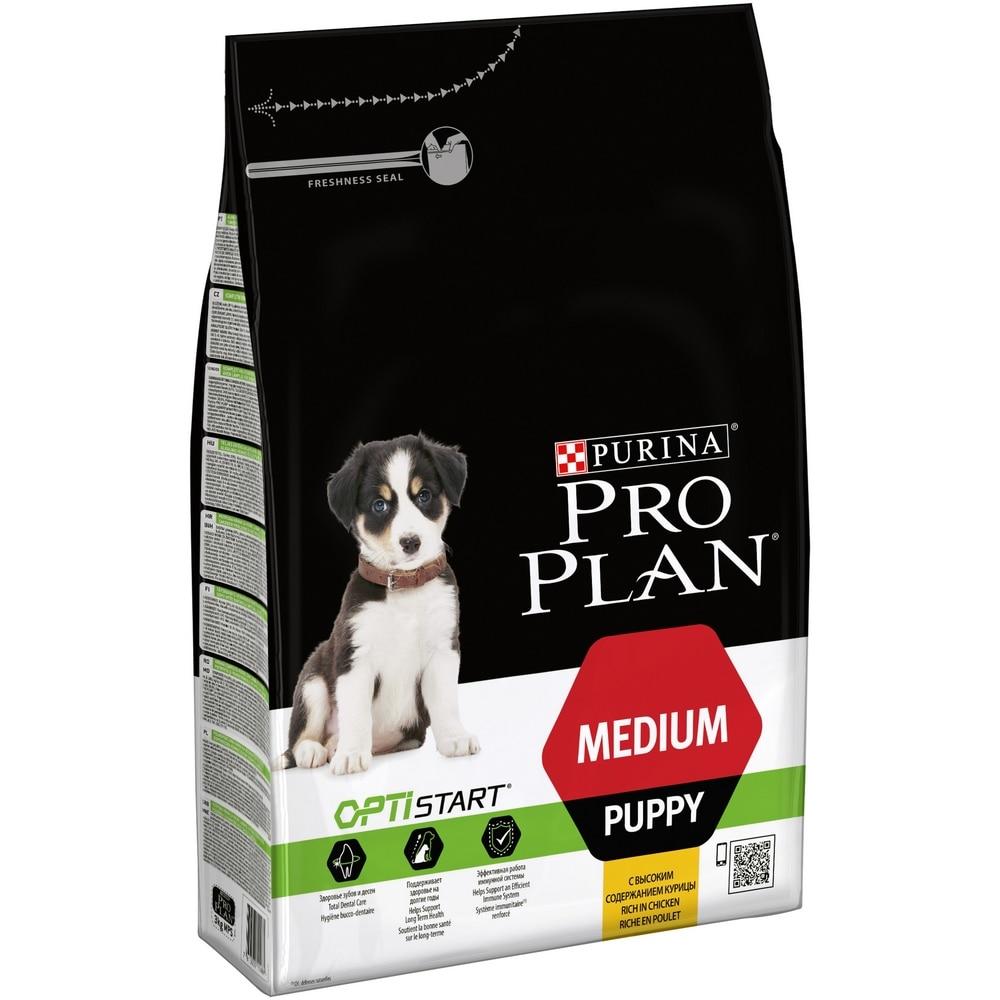 Dog food Pro Plan Medium Puppy puppy food of medium breeds, Chicken, 3 kg original soft pluto dog puppy anime plush toy doll birthday children gift 18cm