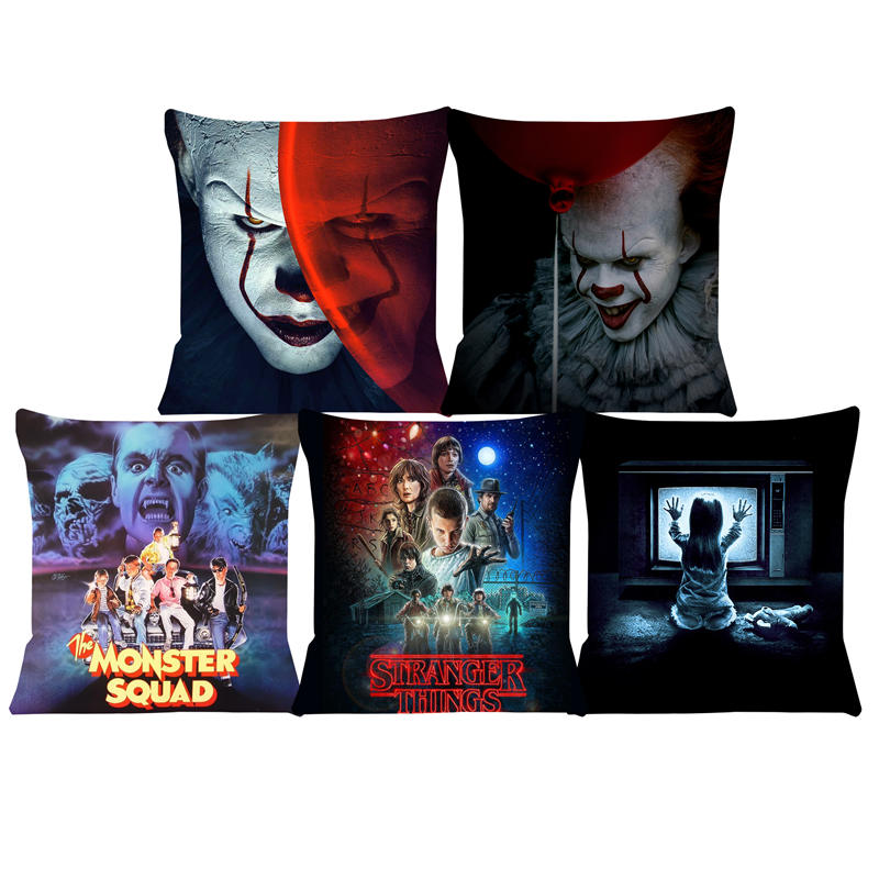 Cushion Cover Pennywise-IT Stills Pillow For Chairs Home Decorative Cushions For Sofa Throw Pillow Cover SJ-063