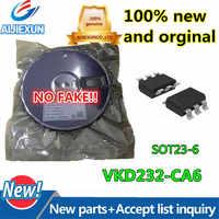 10 sztuk 100% nowy i oryginalny VKD232-CA6 2Key dotykowy przełącznik indukcyjny IC TTPCapacitive dwa dotykowy wymiana klucza kompatybilny swap