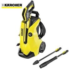 Мойка высокого давления KARCHER K 4 Full Control (Встроенный манометр, телескопическая ручка, система для чистящих средств Plug 'n' Clean, водяное охлаждение двигателя, LED индикация уровня давления)