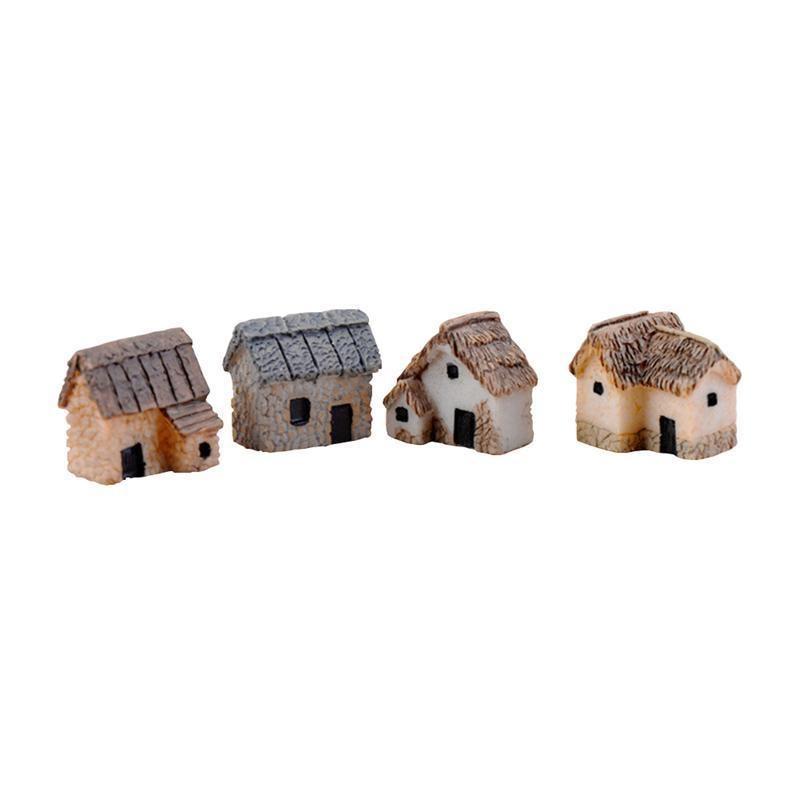 Miniature Maison de Poupée Fée Jardin Gnome ~ Mini Village Chalet avec Mousse