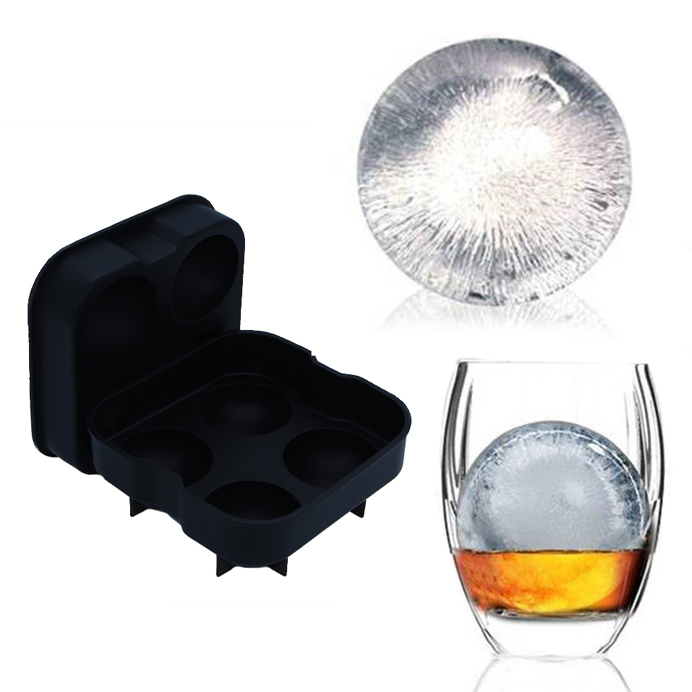 3D Ice Ball Cube Maker Sphere Mold Round Jelly Mould Set Cocktail Whiskey Juice