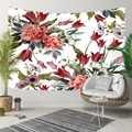 Mais Vermelho Folhas Verdes Flores Floral Roxo Impressão Étnica 3D Hippi Bohemian Paisagem Tapeçaria Da Suspensão de Parede Decorativo Arte Da Parede
