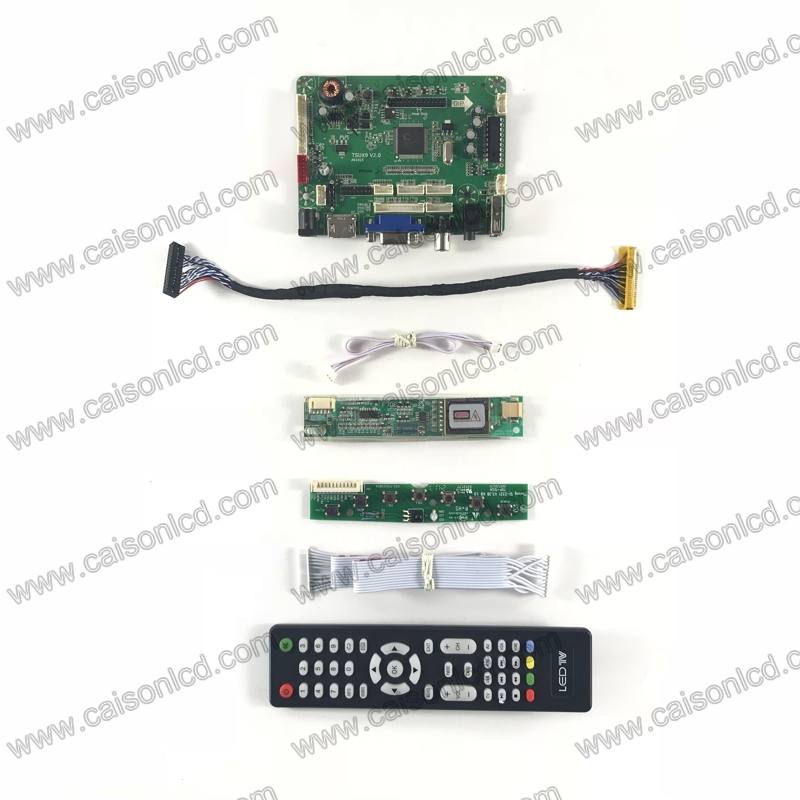 TSUX9V2 0 LCD controller board with HDMI VGA AV AUDIO USB for LCD panel 17 inch