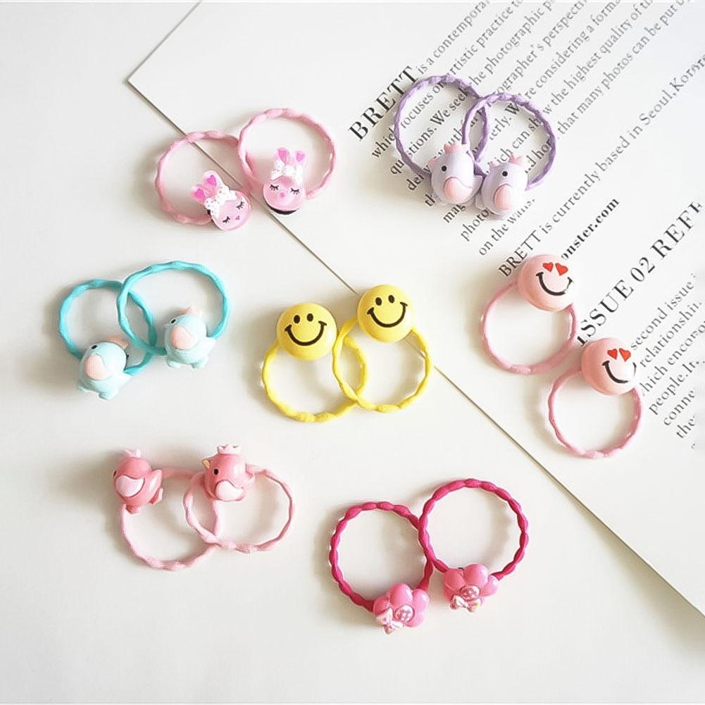 1 Pcs Girls Hair Elastic Hair Bands Does Not Hurt Hair Cartoon Cute Princess Hair Rope Han Edition Girl Headdress