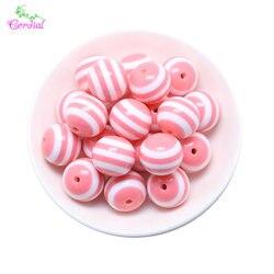 크기 색상 선택 6mm-20mm 패션 쥬얼리 액세서리 특별 수지 스트라이프 구슬 diy 쥬얼리 만들기위한 chunky bubblegum 구슬