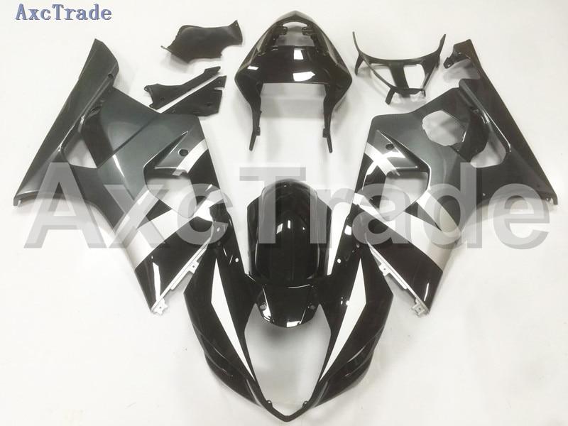 Motorcycle Fairings For Suzuki GSXR GSX-R 1000 GSXR1000 K3 2003 2004 03 04 ABS Plastic Injection Fairing Bodywork Kit Black B20 injection mold 100% fit for suzuki gsxr1000 03 04 k3 silver black fairings set gsxr 1000 2003 2004 k4 yi119