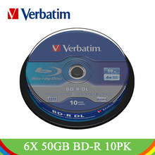 Verbatim BD-R DL 50GB 6X Blu-ray disco en blanco doble capa grabable Media marca Lot azul Ray Disk almacenamiento de datos compacto(China)