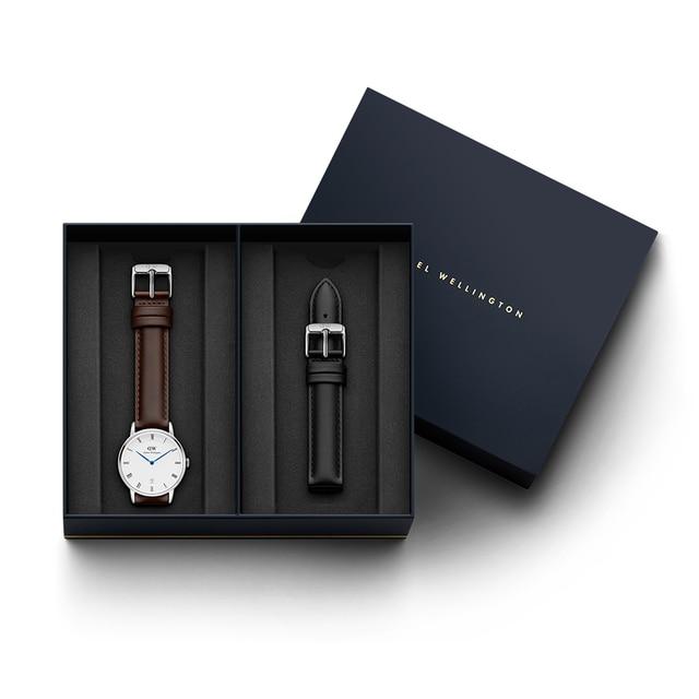 Наручные часы Daniel Wellington Dapper Bristol 34 мм S White + часовой ремешок Daniel Wellington Dapper Sheffield для часов 34 мм S