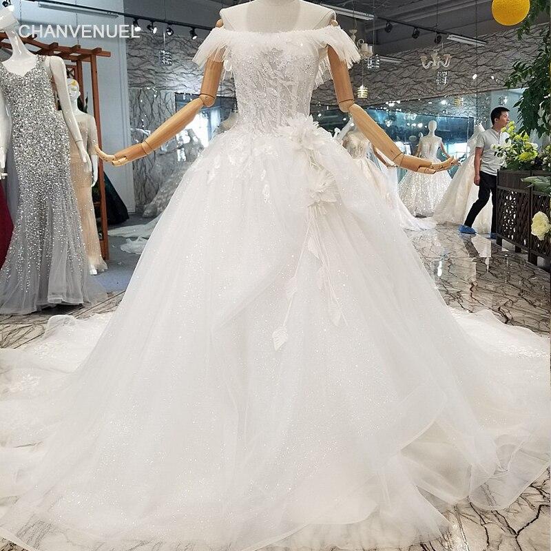 LS013690 Hochzeitskleid Off The Shoulder Short Sleeve Ball