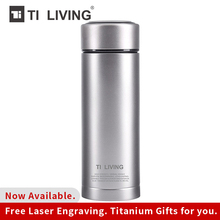 Купить с кэшбэком Thermos Outdoor Vacuum Bottle Flask With Filter Titanium Thermal Tea Cup Coffee Water Bottle Office  Home Thermos Vacuum Cup Mug