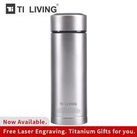 Tikungfu титановая вакуумная фляга термос чайник фляга посуда для напитков 350 мл 450 мл Открытый путешествия продажа Бесплатная доставка Бизнес
