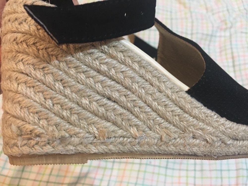 COSIDRAM Летние женские сандалии клин открытый носок туфли на высоком каблуке пляжная Дамская обувь Модная обувь на платформе в римском стиле Большие размеры 42, 43 SNE-095