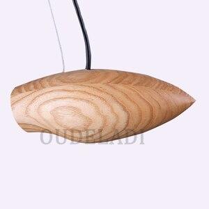 Image 5 - الحديثة خمر خشب متين صغيرة قلادة على شكل طير أضواء زينت مطعم مقهى بار مصابيح مع E27