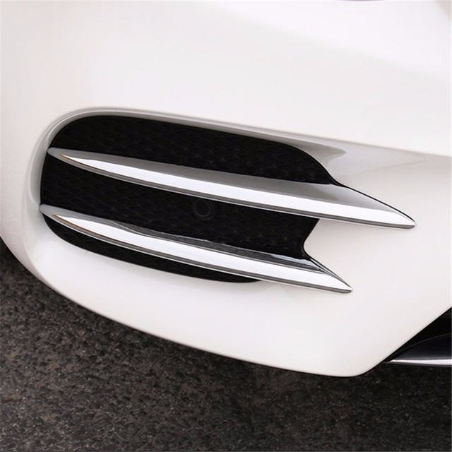 Front Body Fog Lamp exterior durable auto protecter sticker strip car styling trim decoration FOR Mercedes Benz E class