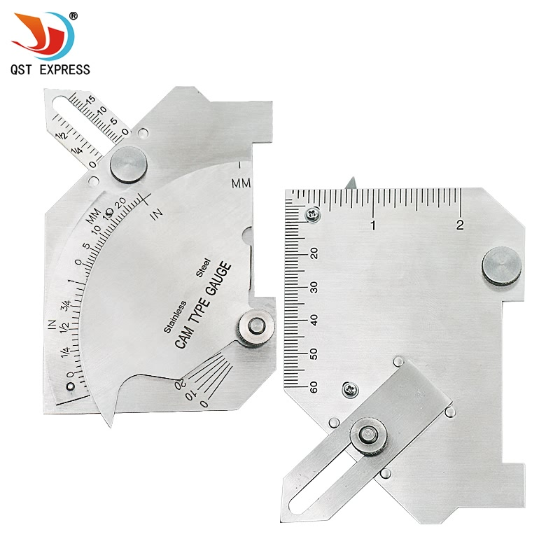 QSTEXPRESS MG-8 bridge cam welding gauge stainless steel Cam Type gauge Master Gage C50 Test Ulnar For Welder Inspection