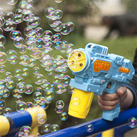 Eva2king Hot Selling Bubble Gun Toy With Music And Light Automatic Bubbles Machine Kids Toys For Children Outdoor Game Gift Boys