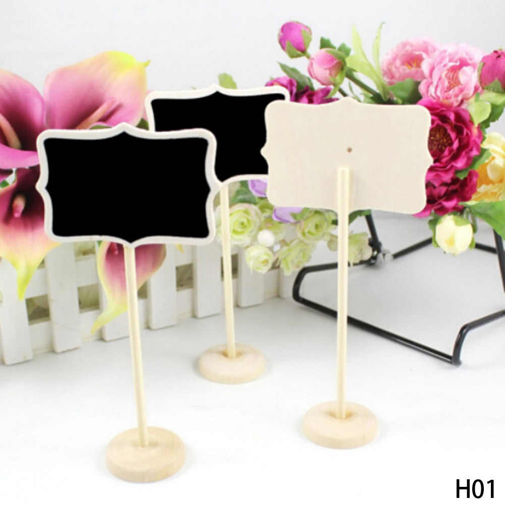 1Pc Vintage Mini  Wood Chalkboard Blackboard Place Card Holder Table Number for Wedding Event Party Valentine Day New Style