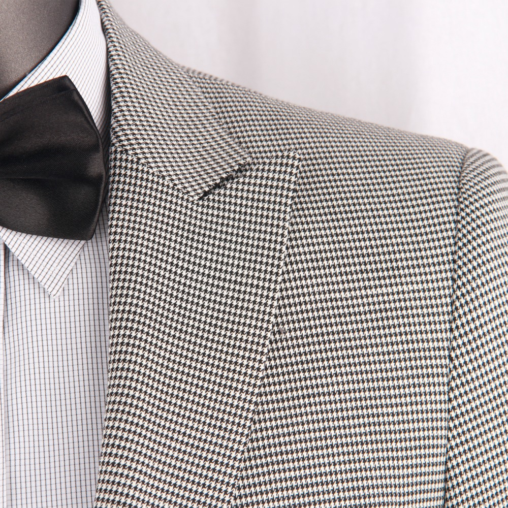 Custom Suits 2019 BESPOKE Men Suit,Fashion Houndstooth Pattern Casual Men Suits ,Dogstooth TAILORED Style Dress Suit Dress Pants