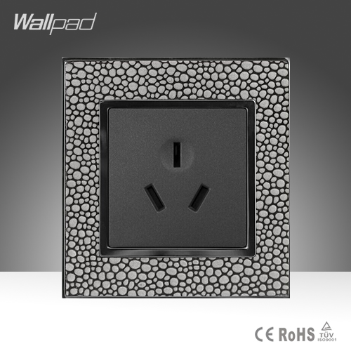 New Arrival Wallpad Brown Leather Frame 110V-250V Hotel 3 Pin 16A Australia New Zealand Air Condition Electric Socket,Free Ship new farah hotel ex residence farah 3 агадир