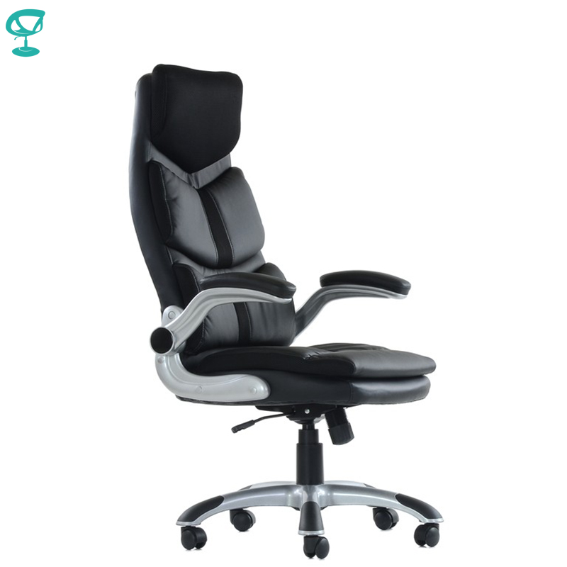 K23PuBlack Office Chair Barneo K-23 Leather High Back Plastic Armrests With Gas Lift Roller Free Shipping In Russia